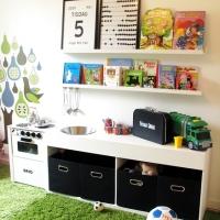 Barnkök, lekbänk & förvaringsmöbel