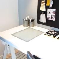 Fredagsfrågor - skrivbord med ljusbord