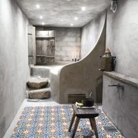 Läckert badrum i betong