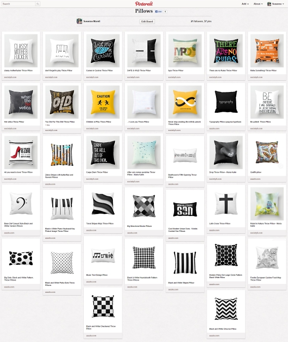 pintrest pillows